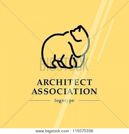 Design studio insignia. House design bureau and ho