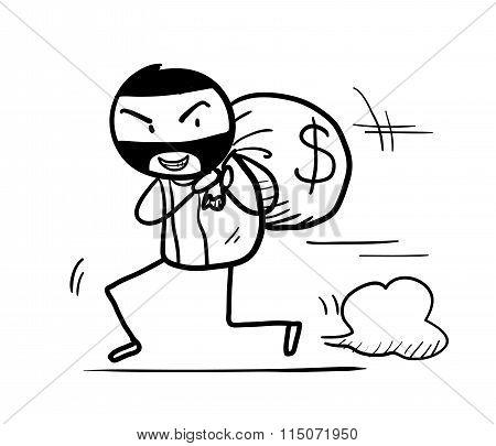 Money Theft Doodle