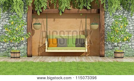 Garden With Swing