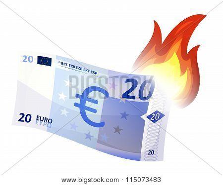 Euro Bill Burning