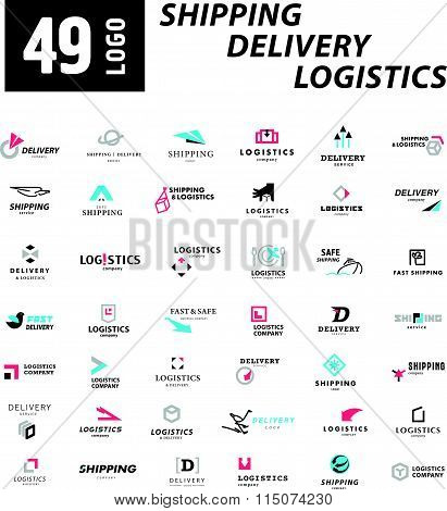 Vector flat logo template for logistics and delivery company.