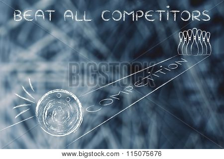 Beat All Competitors Like A Bowling Ball About To Strike