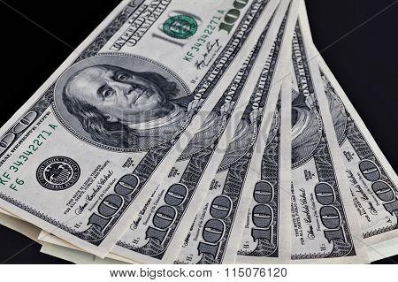 Six One Hundred United States Dollars Banknotes