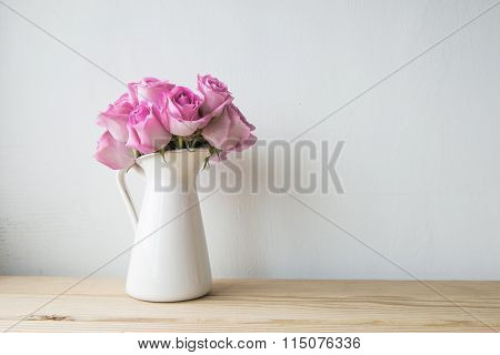 beauty pink flowers on the white background