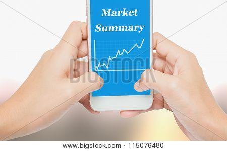 Handle the phone labeled market summary