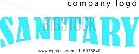 Vector flat sanitary and hygienic company insignia