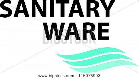 Vector flat sanitary and hygienic company logo