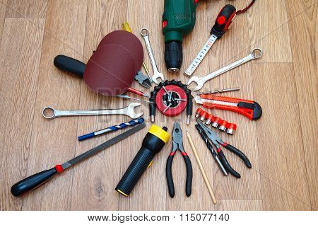 Assorted Working Tools For Locksmith Work