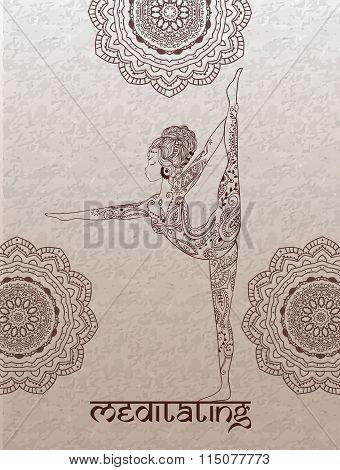 Beautiful card vector