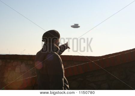 Ufo Over The City
