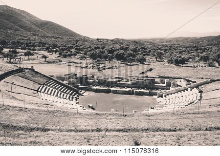 ruins of Ancient theater of Messini, Greece