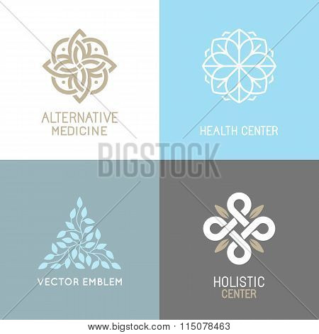 Vector Set Of Abstract Logos