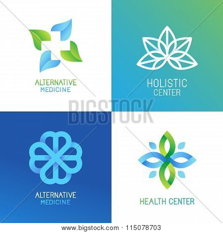Vector Set Of Abstract Logos And Emblems