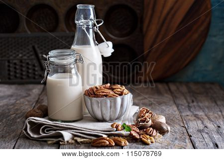 Pecan nut vegan milk