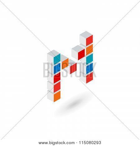 3D Cube Letter L Logo Icon Design Template Elements