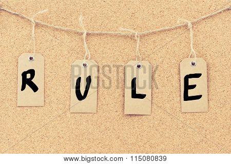 Vintage Grunge Tags With Word Rule
