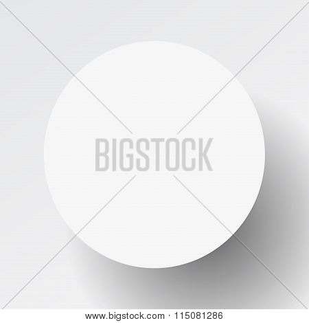Papercut abstract round banner