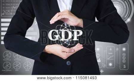 Business women holding posts in GDP.