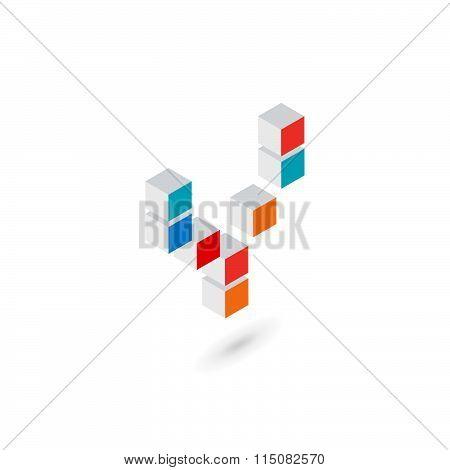 3D Cube Letter Y Logo Icon Design Template Elements