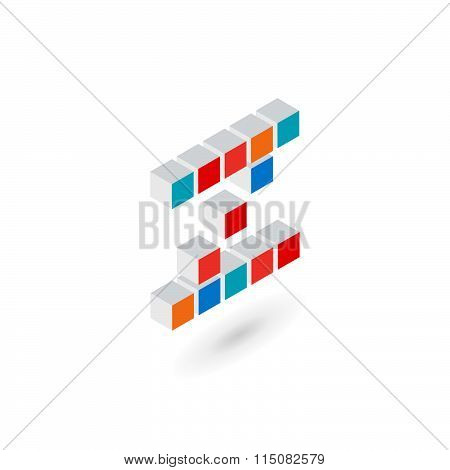 3D Cube Letter Z Logo Icon Design Template Elements