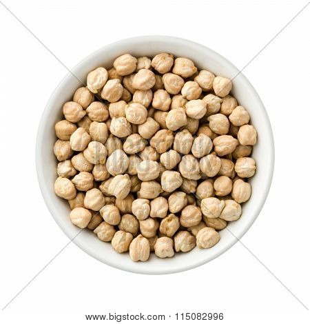 Chickpeas In A Ceramic Bowl