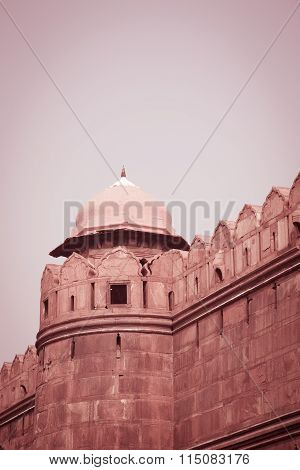 Turret, Red Fort, Delhi, India