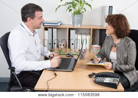 Job Applicant Having Interview At Business Place