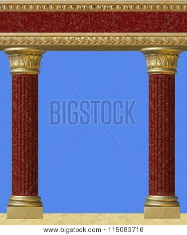 Antique column isolated
