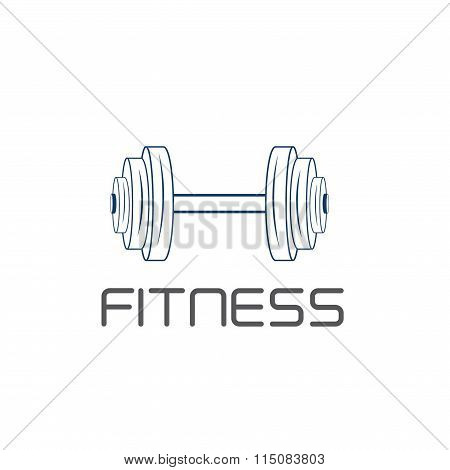 Barbell Vector Design Template