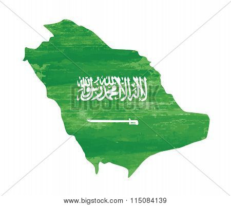 Saudi Arabia flag grunge country vector on white