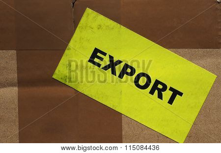 Cardboard Box With Export Label