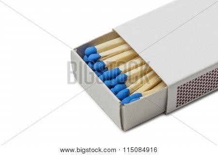 Matchbox With Blue Matches
