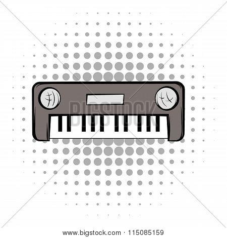 Synthesizer grey comics icon