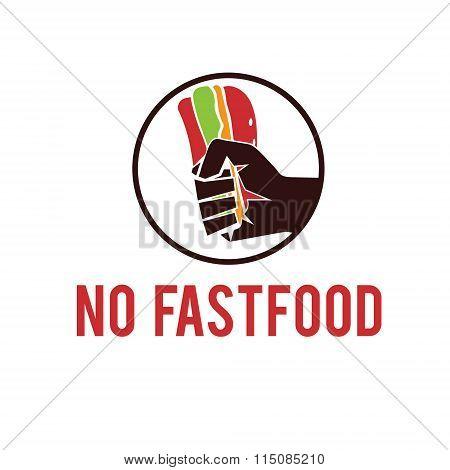 No Fastfood Emblem
