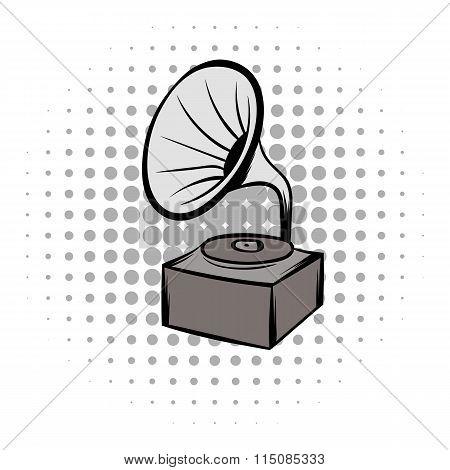 Phonograph grey comics icon