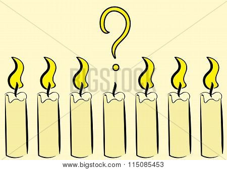 Extinct candle with a question