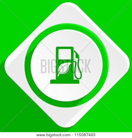 biofuel green flat icon