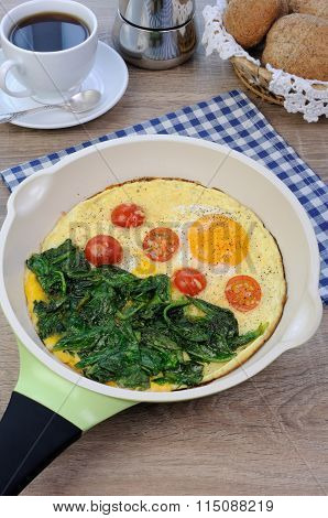 Scrambled Eggs With Tomato And Spinach