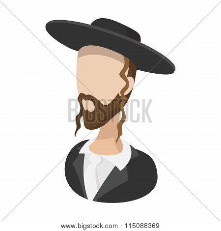 Rabbi cartoon icon