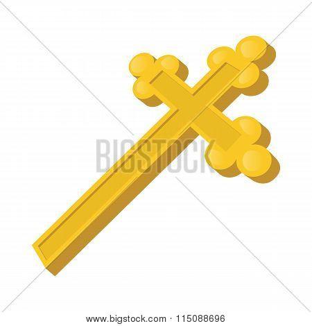 Christian cross cartoon icon