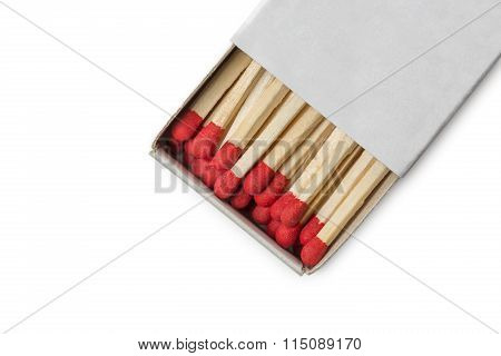Matchbox With Red Matches