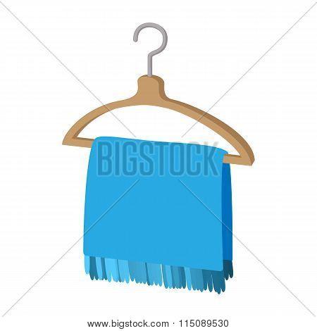 Scarf on coat-hanger cartoon icon
