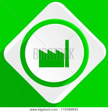 factory green flat icon