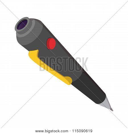 Spy pen cartoon icon
