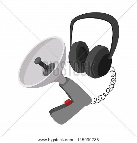 Spy listening device cartoon icon