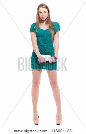 Sexy Blond Woman With Smartphone