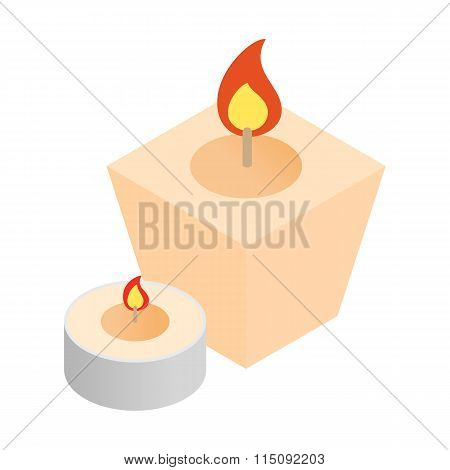 Spa candles isometric 3d icon