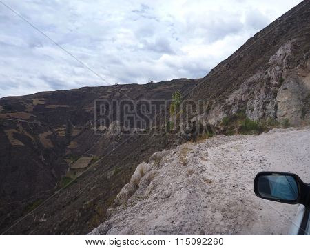 Dirt Road Curve In The Mountains