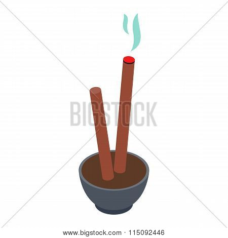 Incense isometric 3d icon