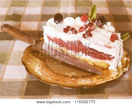 Retro Looking Pie Cake